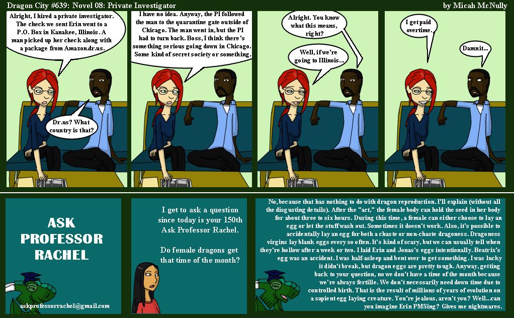 639. Novel 08: Private Investigator (With Ask Professor Rachel 150)