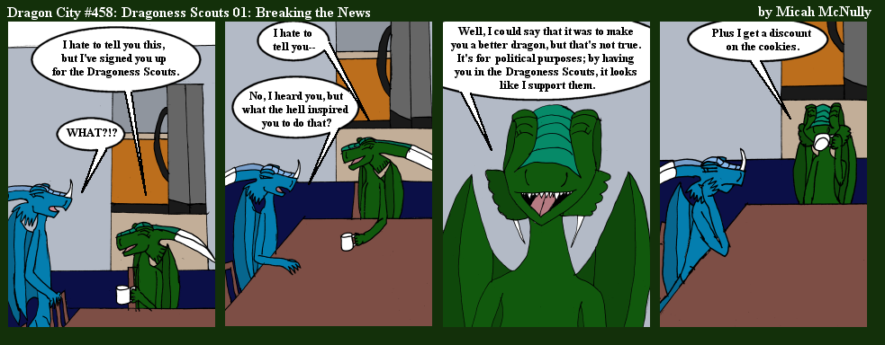 458. Dragoness Scouts 01: Breaking The News