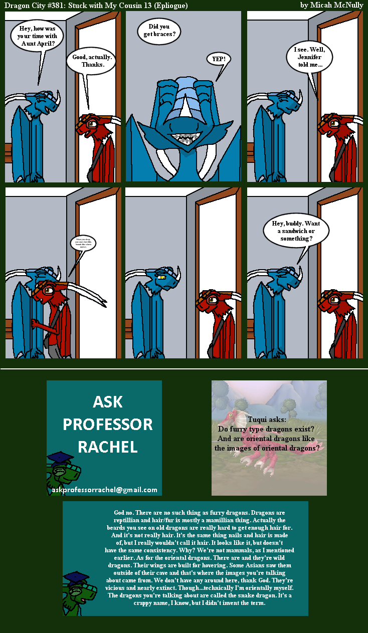 381. Stuck With My Cousin 13 (Epilogue) (With Ask Professor Rachel 64)