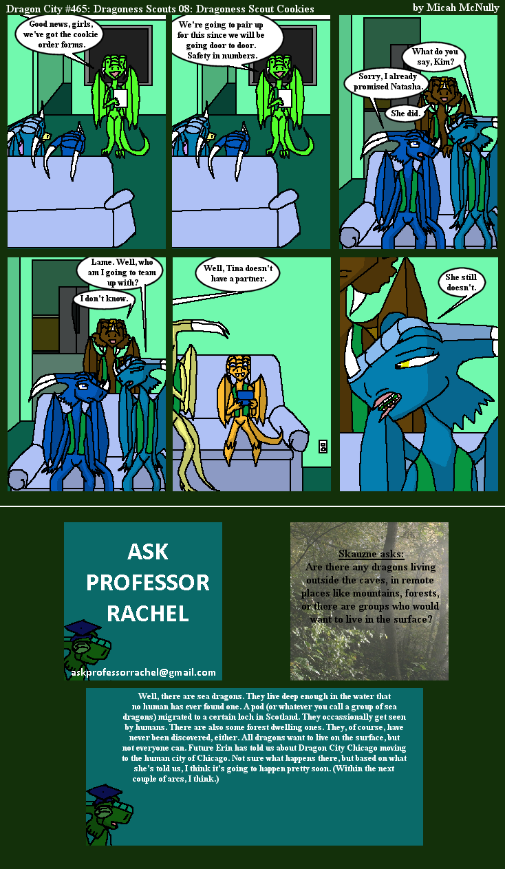 465. Dragoness Scouts 08: Dragoness Scout Cookies (With Ask Professor Rachel 92)