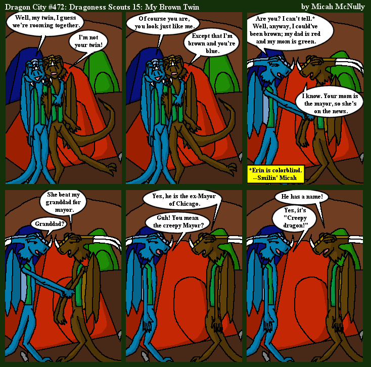 472. Dragoness Scouts 15: My Brown Twin