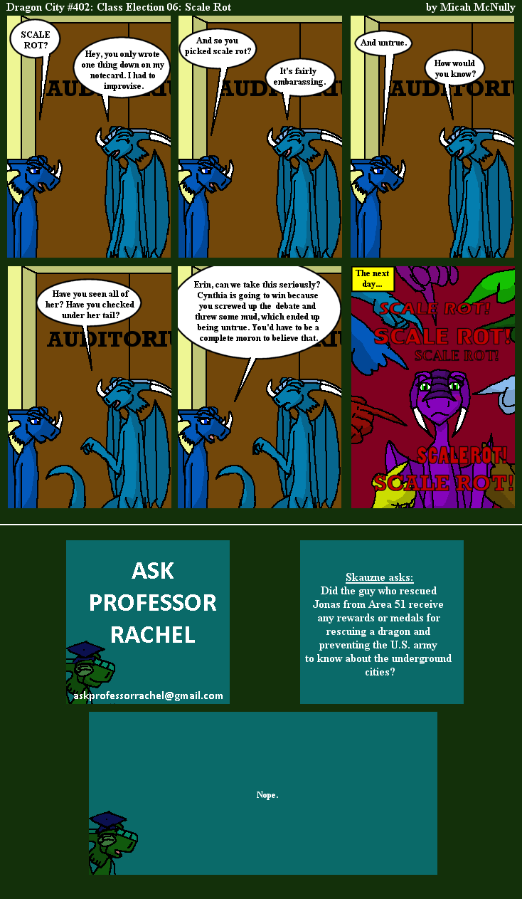 402. Class Election 06: Scale Rot (With Ask Professor Rachel 71)