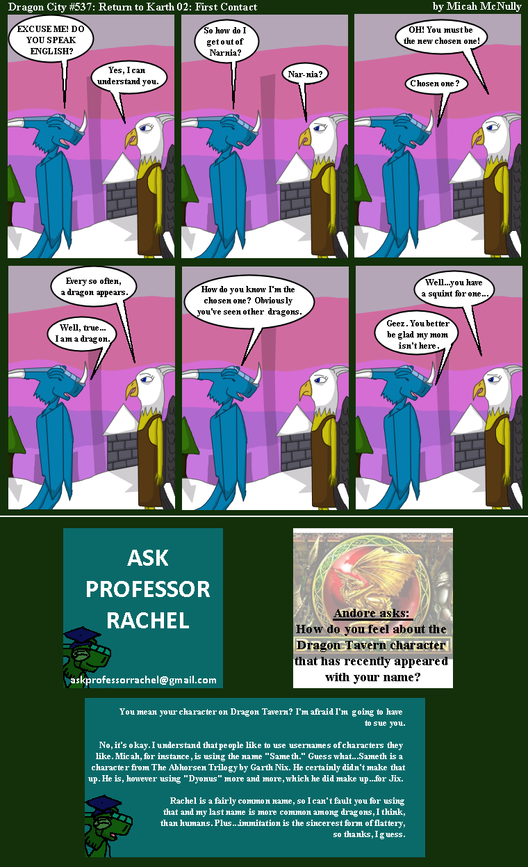 537. Return to Karth 02: First Contact (With Ask Professor Rachel 116)