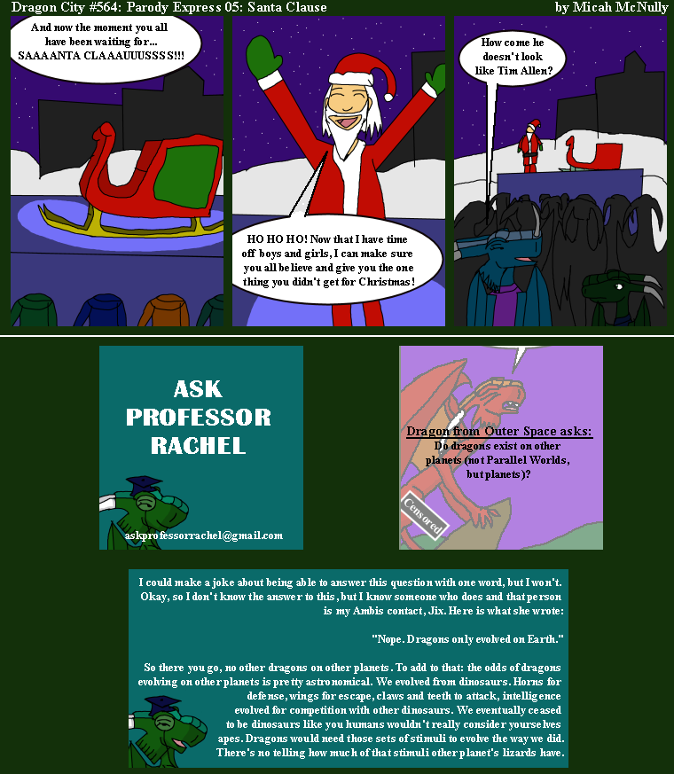 564. Parody Express 05: Santa Clause (With Ask Professor Rachel 125)