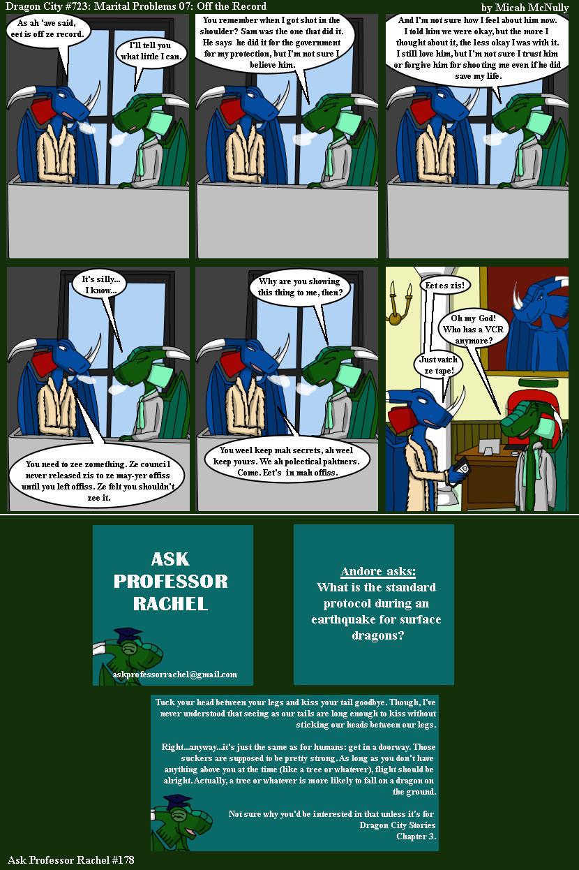 723. Marital Problem 07: Off the Record (With Ask Professor Rachel 178)