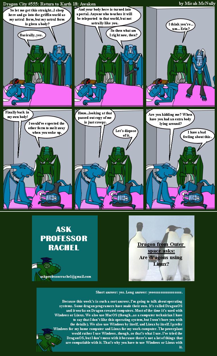 555. Return to Karth 18: Awaken (With Ask Professor Rachel 122)