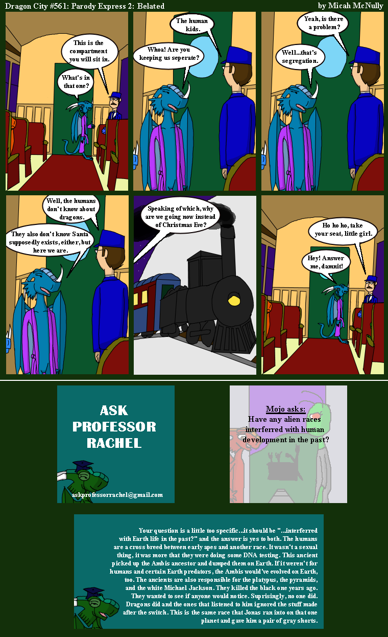 561: Parody Express 02: Belated (With Ask Professor Rachel 124)