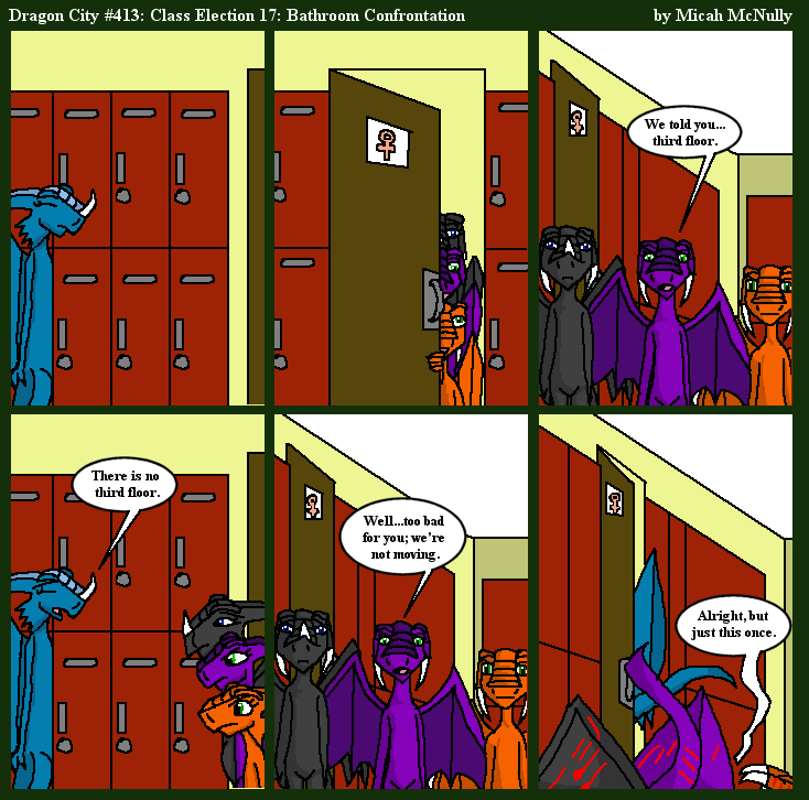 413. Class Election 17: Bathroom Confrontation