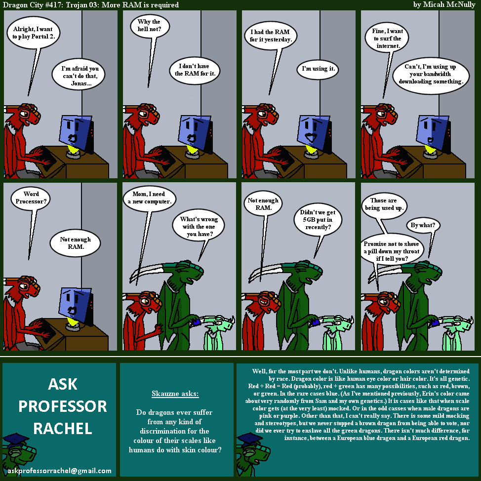 417. Trojan 03: More RAM is required (With Ask Professor Rachel 76)