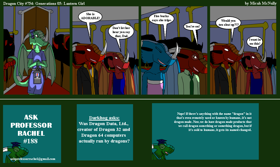 754. Generations 05: Lantern Girl (With Ask Professor Rachel 188)