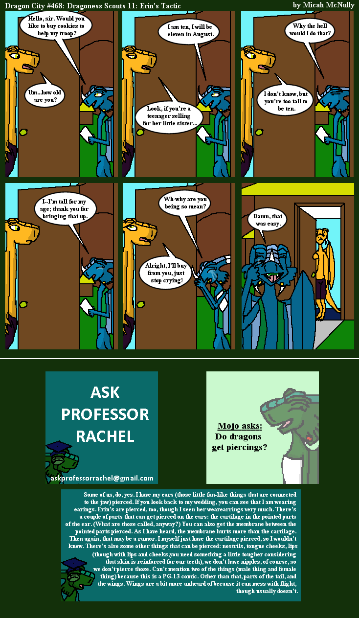 468. Dragoness Scouts 11: Erin's Tactic (With Ask Professor Rachel 93)
