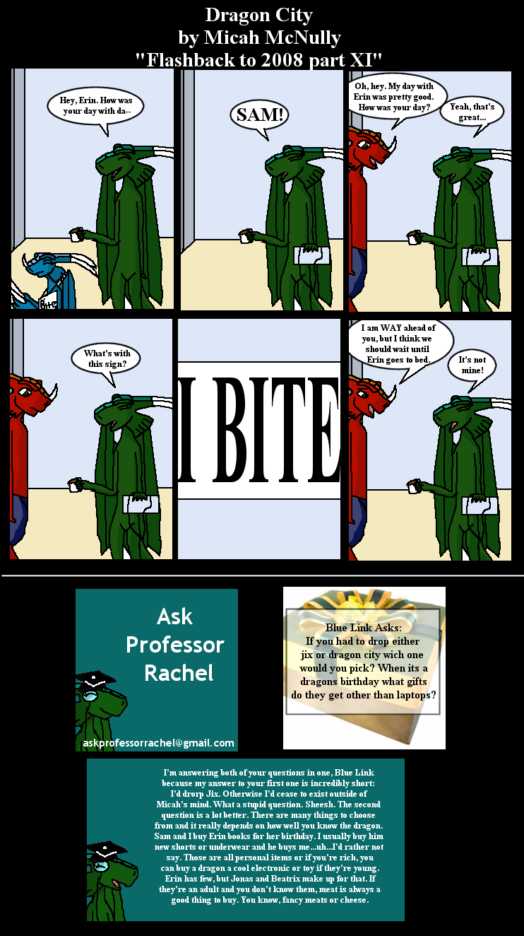 270. Flashback to 2008 part XI (With Ask Professor Rachel 27)