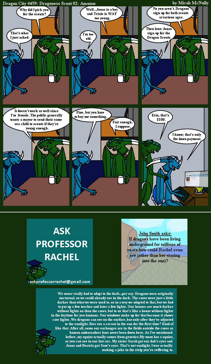 459. Dragoness Scout 02: Amazon (With Ask Professor Rachel 90)