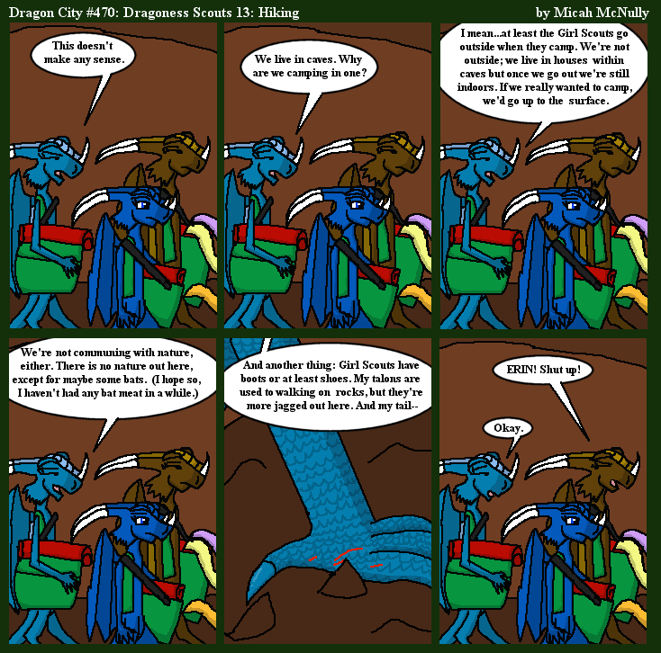 470. Dragoness Scouts 13: Hiking
