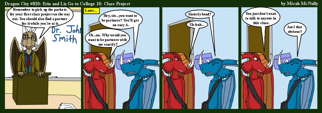 820. Erin and Liz Go to College 10: Class Project