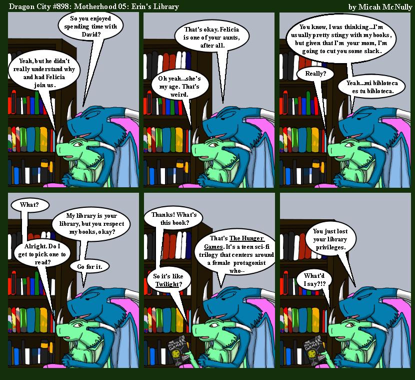 898. Motherhood 05: Erin's Library