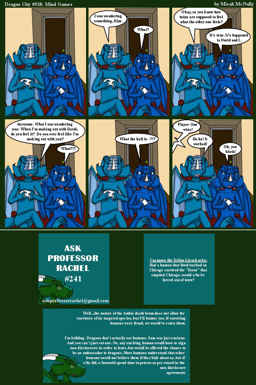 918. Mind Games (With Ask Professor Rachel 241)