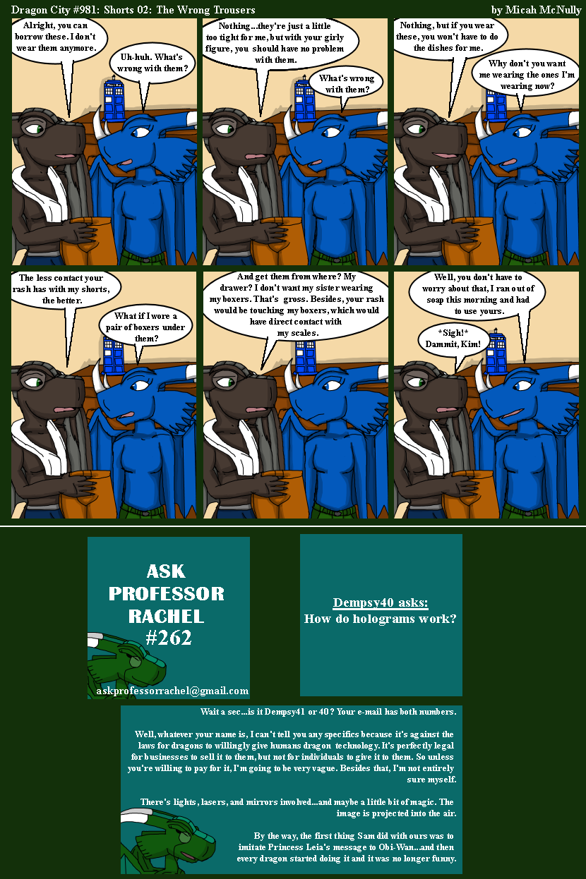981. Shorts 02: The Wrong Trousers (With Ask Professor Rachel 262)