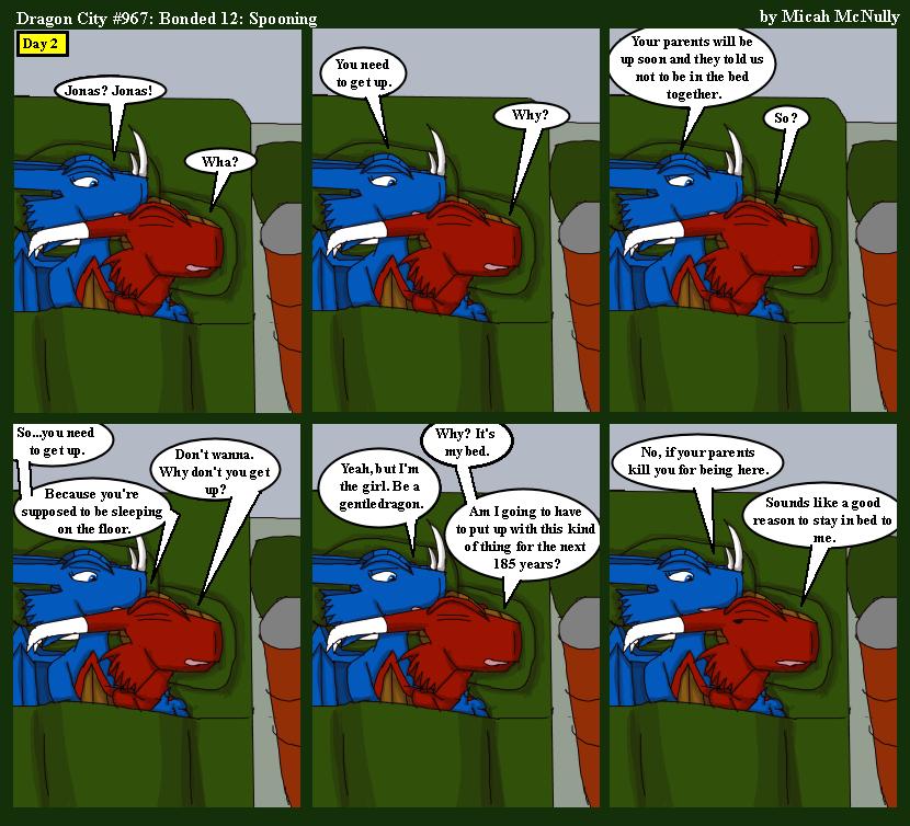 967. Bonded 12: Spooning