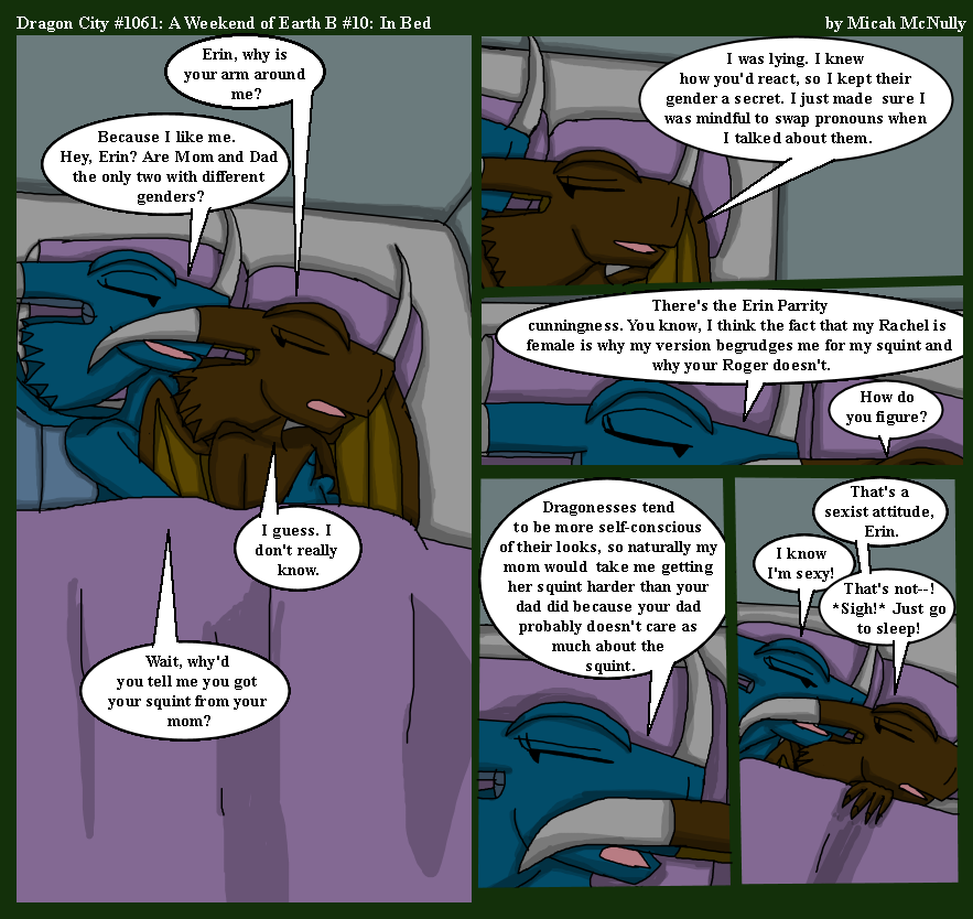 1061. A Weekend on Earth B #10: In Bed
