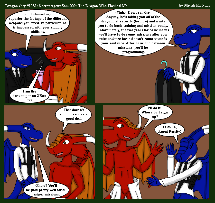 1081. Secret Agent Sam 009: The Dragon Who Flashed Me