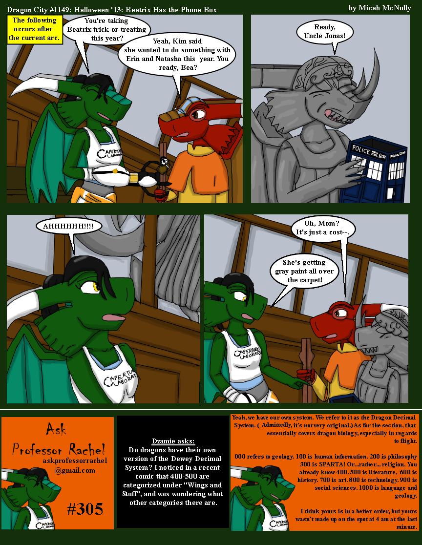 1149. Halloween '13: Beatrix Has the Phone Box (With Ask Professor Rachel #305)