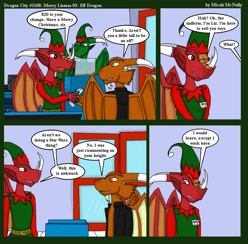 1168. Merry Lizmas 03: Elf Dragon