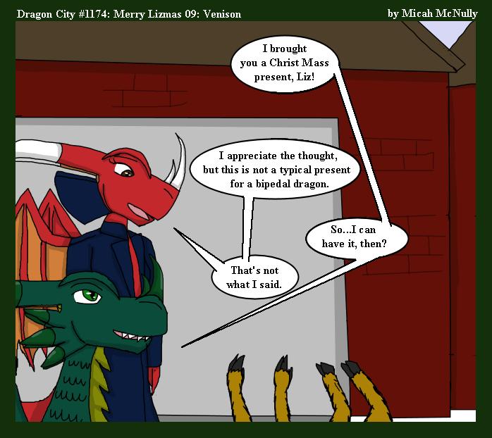 1174. Merry Lizmas 09: Venison