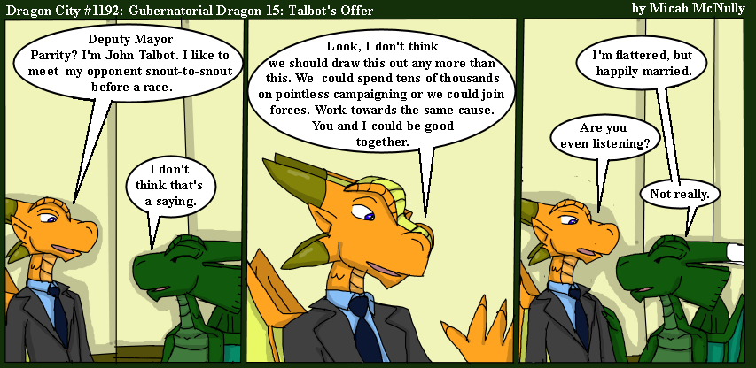 1192. Gubernatorial Dragon 15: Talbot's Offer