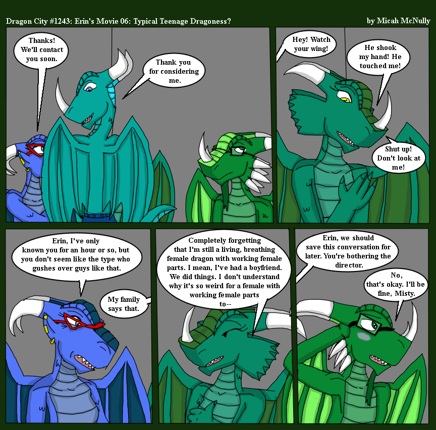 1243. Erin's Movie 06: Typical Teenage Dragoness?