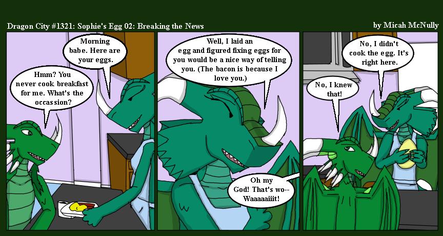 1321. Sophie's Egg 02: Breaking the News
